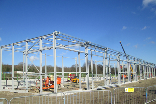 Steel frames going up at Nepicar