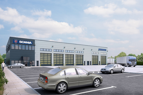 Work starts on Scania's new Gatwick service centre