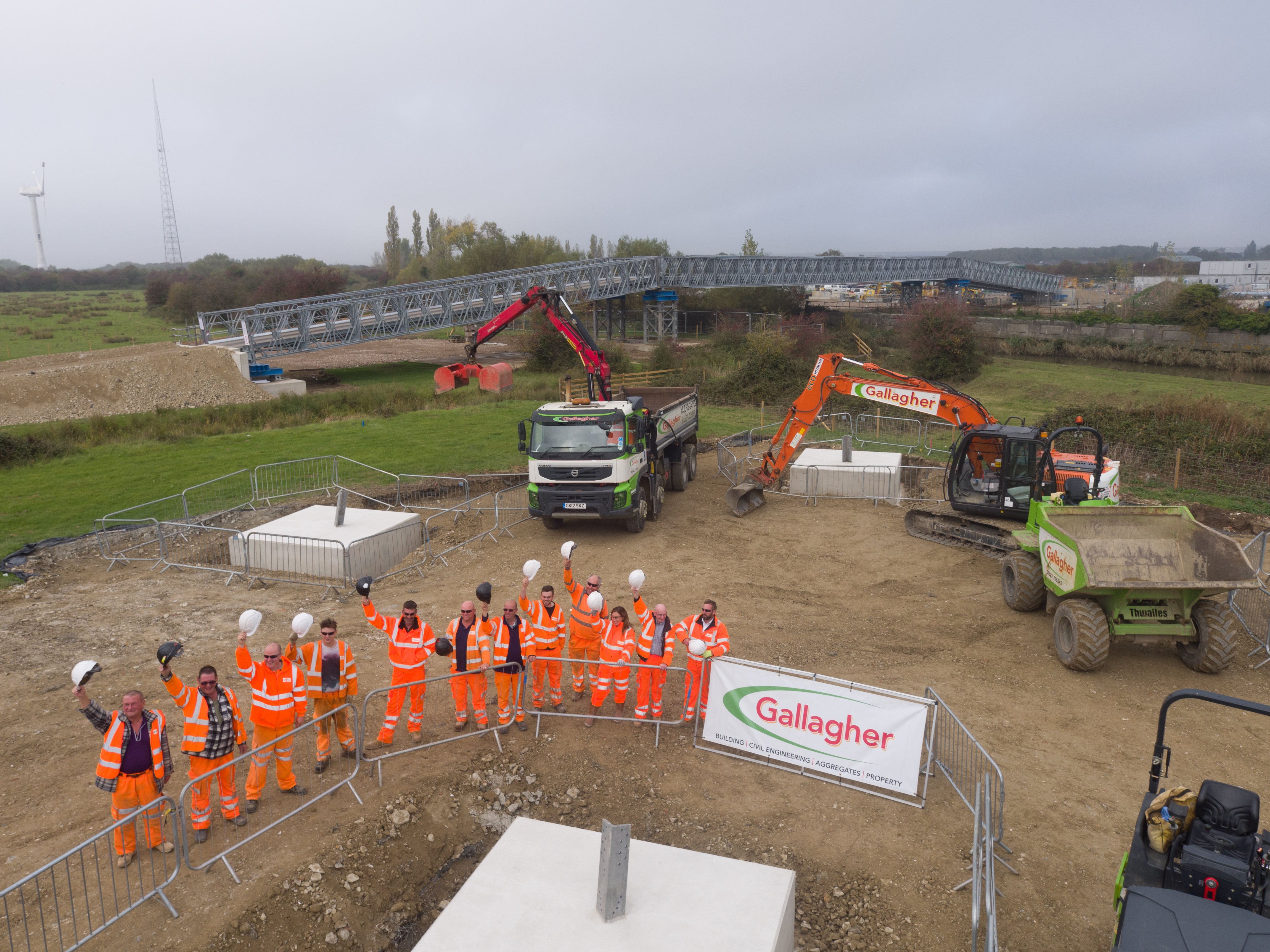 60th and final pylon base completed at Richborough
