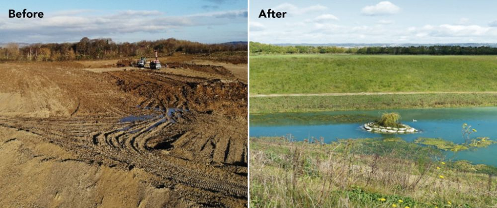 Before and after of the western extension